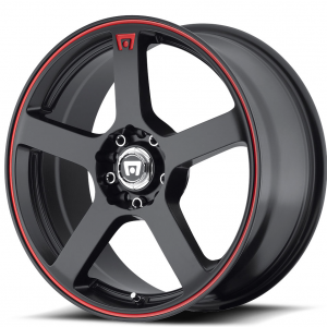 MR116 MATTE BLACK W: RED STRIPE